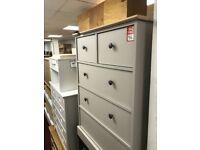 2+3 drawer grey chest