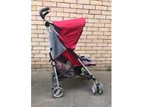 Hauck stroller with raincover