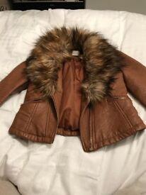 Asda George leather jacket size 8