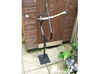Vintage Individual Handmade Wrought Iron and Brass Sundial