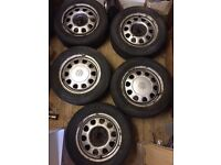 "VW Golf Mk3 14"" 4x100 Steel Wheels With Tyres - Mk1 Mk2 Vauxhall Astra Corsa Vectra Nova Steelies"