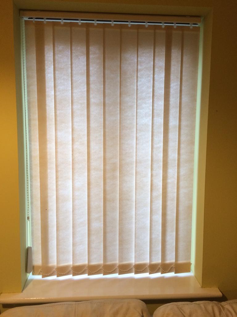 Vertical Slat Multi Way Beige Window Blinds X 4 Home Office Etc