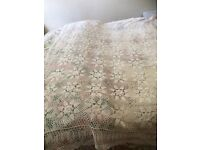 White crochet table cloth NEW