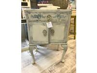 Grey shabby chic French style bedside