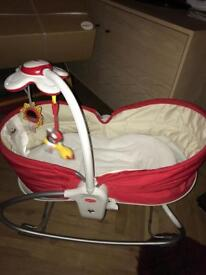 Tiny Love 3 in 1 Rocker Napper Red day bed bouncer VGC