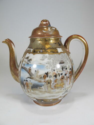 Antique Japanese Satsuma teapot  # D8371