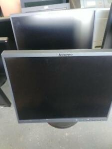 "Lot of 2 LCD  Lenovo L192p 9419-HC2 19"" & 4431 HE1 Monitor VGA & DVI Inputs"