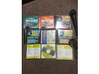 9 KARAOKE CDS AND GEMINI MICROPHONE GM-26 IN EXCELLENT CONDITION