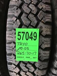 57049) TAKE OFF 4-LT 265/70r17 TOYO M55 TIRES $ 800 set of 4
