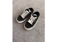 Black shoes (vans) kids