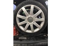 """Set of Audi rs4 A4 s4 18"""" genuine 5/112 alloys tyres"""