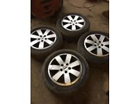 GENUINE FORD GALAXY SET OF ALLOY WHEELS AND TYRES