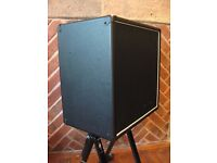 1 x 12 Cab + 'Hot Covers' cover. Eminence Red Fang Alnico Loaded 8 Ohm # 1