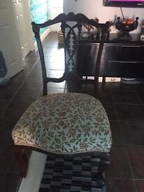 Mahogany low/child's chair