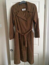 Ladies full length Brown coat