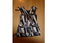 WOMANS SEQUIN GLITTER TOP SIZE 8 , BNWT, STAR BY JULIEN MACDONALD