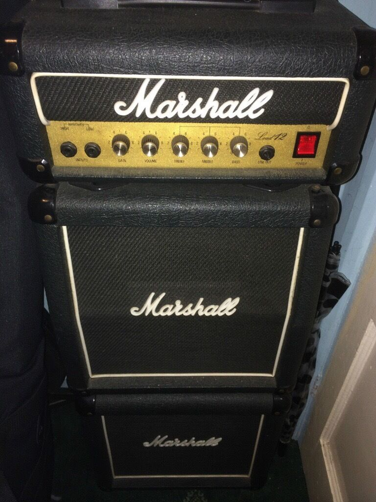 Vintage 1987 Marshall Lead 12 - Full Mini Stack! Very Rare