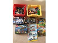 LEGO - 2 boxes plus 3 boxed Lego and various booklets
