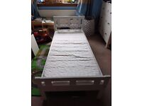 Toddler Bed & Bedding IKEA KRITTER Bed Frame, Slatted Base, Mattress & Protector, 4 Fitted Sheets
