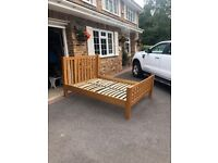 OAK FRAME BED - QUEEN SIZE for sale  Camberley, Surrey