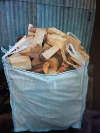 Logs, sticks, blocks, firelighters, kindling