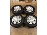"Set of 17"" genuine Ford alloy wheels and tyres Ford Ranger Mitsubishi L200 Shogun"