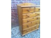 Large solid pine chest of drawers. Extra Deep. Dovetail Joints. H