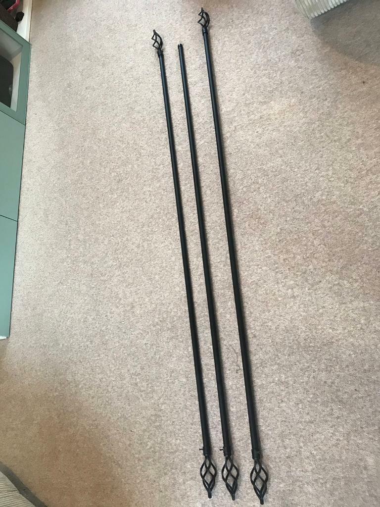 3 x Black Curtain Poles | in Ipswich, Suffolk | Gumtree