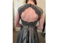 Grey prom dress size 6-8 including shoes & bag £165.00