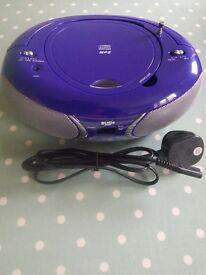 Bush cd player MP3 with FM radio New purple