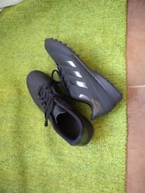 Men's Adidas astroturf football boots, size 9, worn once. In box.