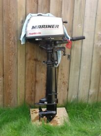 mariner 4hp 4stroke long shaft outboard engine motor vgc