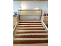 Double bed frame with built in lights