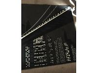 Black &a white NYC skyscraper design rug. 5ft by 6ft approx