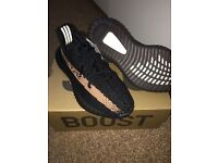 AUTHENTIC Adidas Yeezy Boost 350 V2 in Black/Copper UK7 POSTAGE TO ALL UK