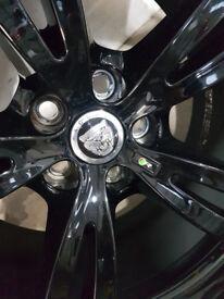 "4 x Genuine Jaguar 20"" Alloy Wheels With Pirelli PZero Tyres XJ Black"