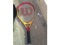Kids Tennis Racket Slightly Worn With Case