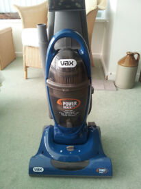 Vax upright vacuum cleaner very little use
