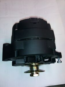 Black 6 volt 60 amp 1 wire GM alternator Negative Ground with choice of pulley