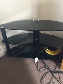 Black TV stand immaculate condition