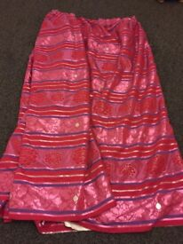Pink/red/silver curtains 90 x 90