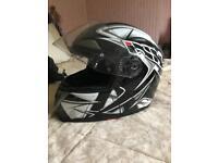Motorbike helmet Large with sun visor