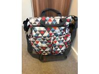 Skip Hop Duo Signature Triangles Baby Changing Bag with changing mat