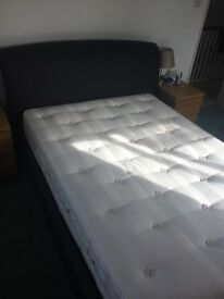 Beautiful faux leather double bed frame