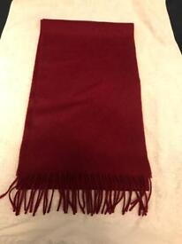 Johnstons of Elgin Red Cashmere Scarf