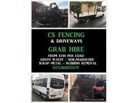 Digger hire grab hire fencing slabbing