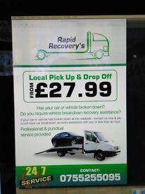 Rapid breakdown recovery £29.99