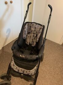Silver Cross pram/pushchair travel system with isofix.