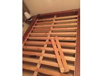 Wooden double bed frame for sale