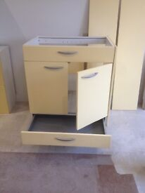 Mobalpa Storage Units in Grapefruit, ideal for utility room